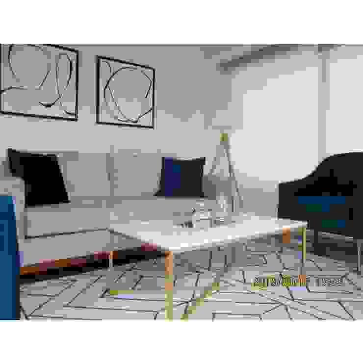 DISEÑO SALA Y COMEDOR LE SAULE LINCE Salas modernas de NF Diseño de Interiores Moderno