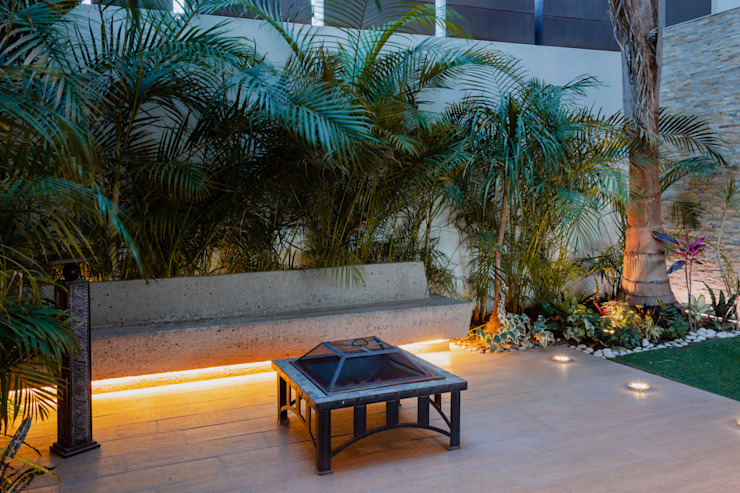 Terraza Interior. Balcones y terrazas modernos de GRUPO VOLTA Moderno Concreto