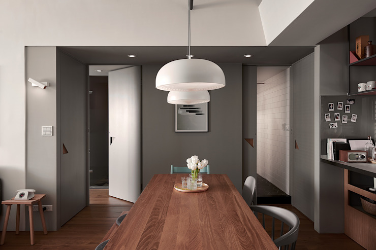 WELCOME HOME + THE CORNER-實適空間設計 根據 實適空間設計 北歐風 實木 Multicolored
