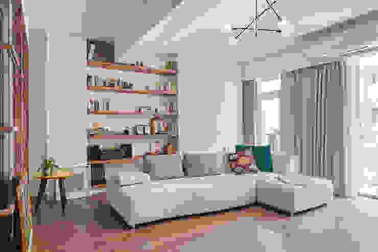 """Luxury, Calm and Deligt""-實適空間設計 根據 實適空間設計 北歐風 木頭 Wood effect"