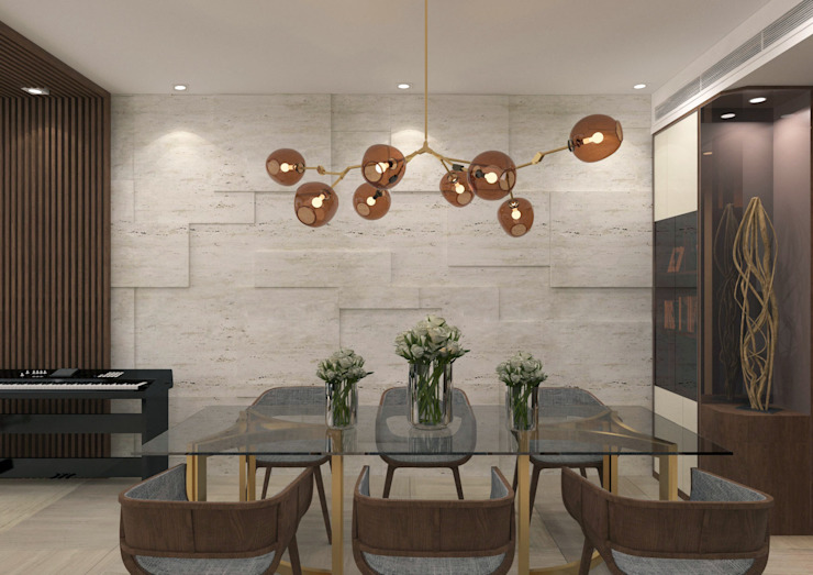 Dining Room Modern dining room by KMok Consulting Limited Modern