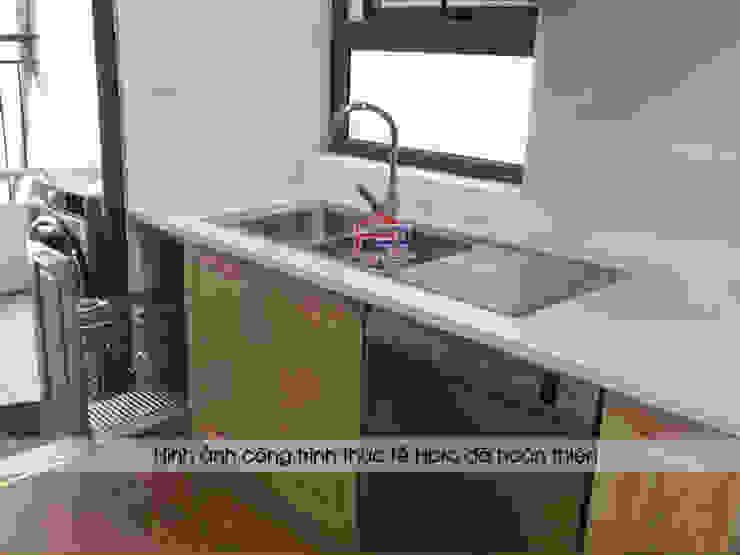Hình ảnh thực tế bộ tủ bếp nhà anh Phương Nội thất Hpro KitchenCabinets & shelves Gỗ Multicolored