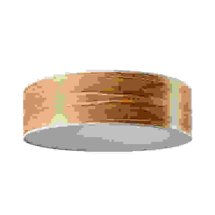 LeuchtNatur – DISCUS – Deckenleuchte Olivesche Maser von Atelier Winter & Partner Landhaus Holz Holznachbildung