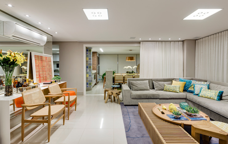 Sala Integrada Salas de estar modernas por Rubiana teixeira Barbosa ME Moderno