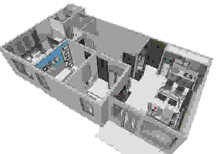 Sketsa Unit Apartment Oleh unimony.id Minimalis