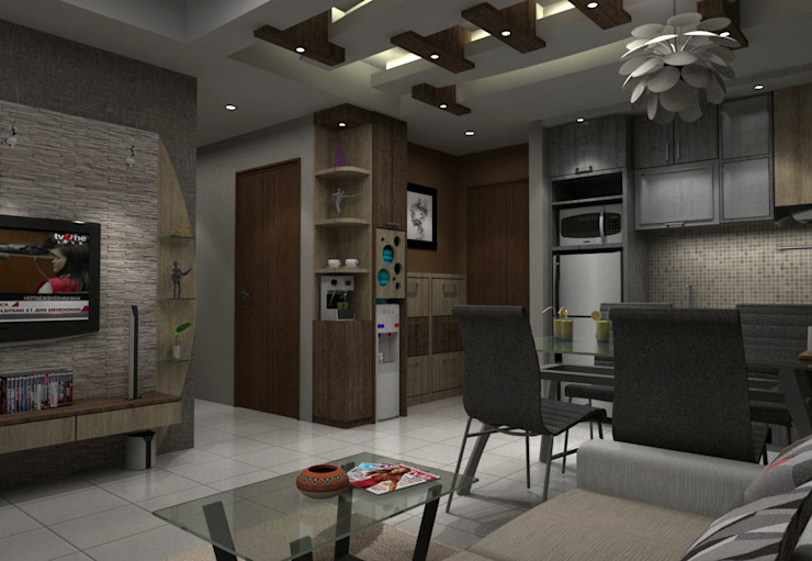 Ruang Makan Tampak Samping Ruang Makan Minimalis Oleh unimony.id Minimalis