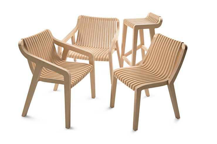 Radius Seating Range : minimalist  by minima, Minimalist Plywood