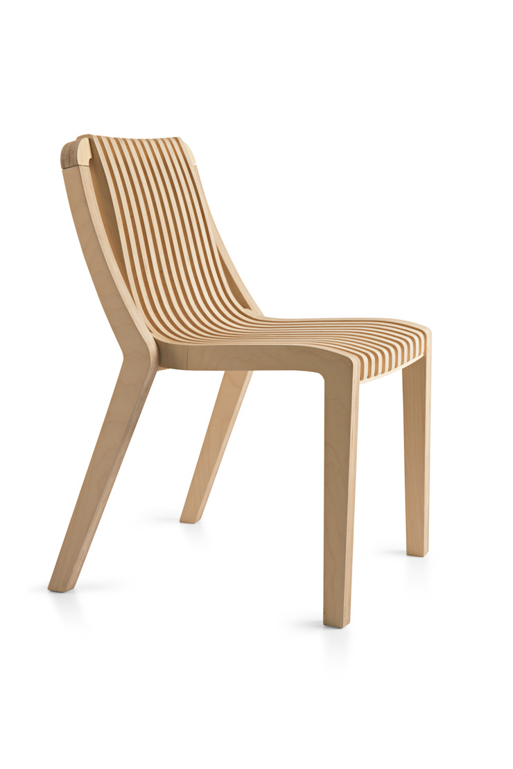 Radius Dining Chair: minimalist  by minima, Minimalist Plywood