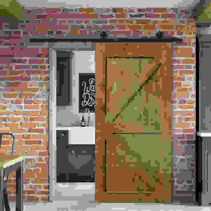 MIT 穀倉門客製 (可客製化尺寸) 根據 On ♥ Design 設計 ‧ 北歐 ‧ 工業家具 工業風 實木 Multicolored