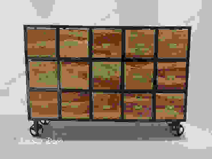 迦納15抽收納櫃 - 正面: 產業  by Decker Deco, 工業風