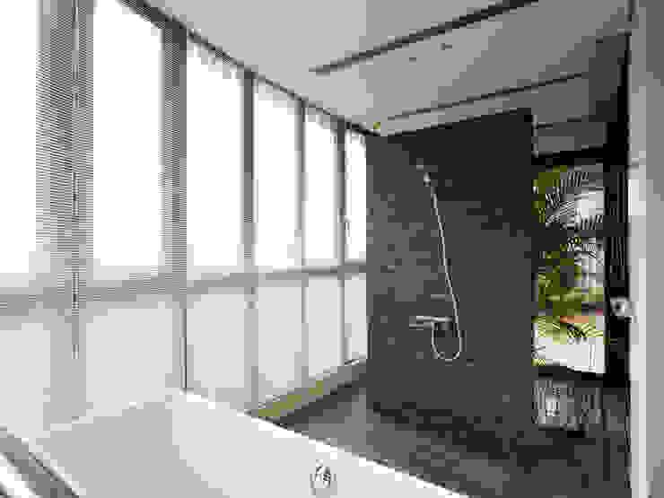 Baños de estilo moderno de WID建築室內設計事務所 Architecture & Interior Design Moderno