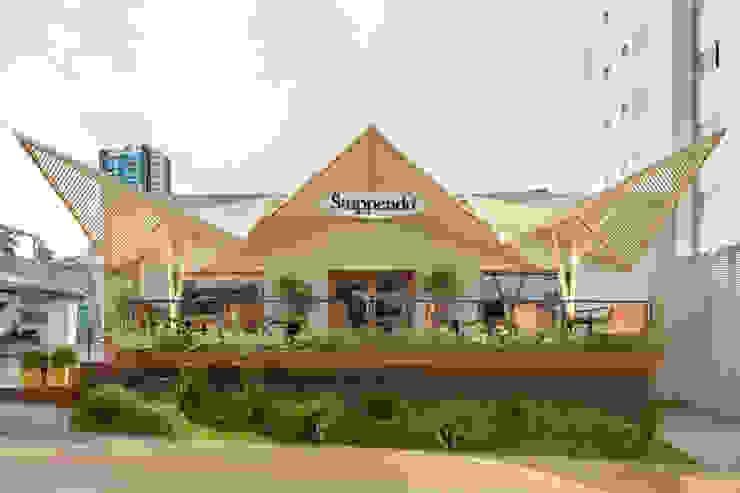 D arquitetura Bangunan Kantor Gaya Eklektik Besi/Baja Multicolored