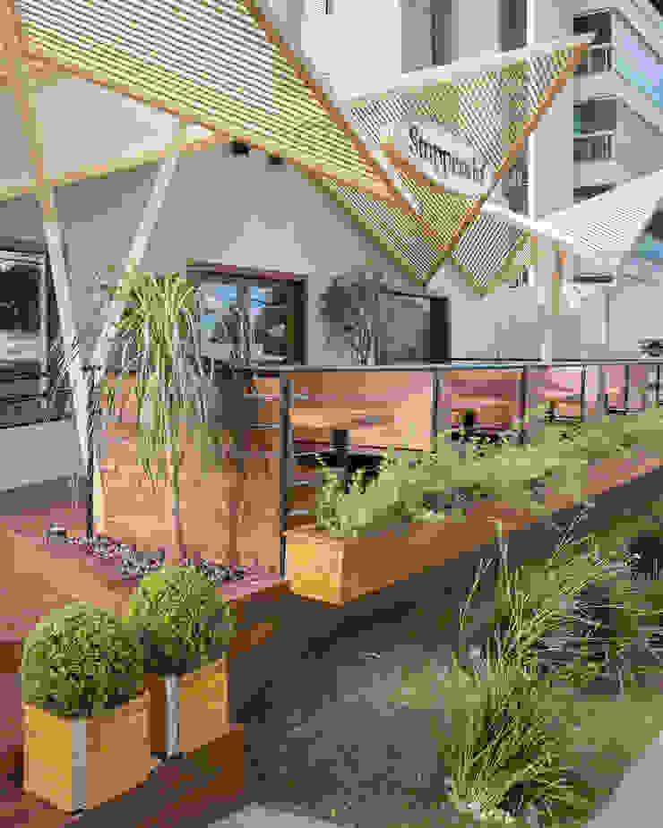 D arquitetura Ruang Komersial Gaya Eklektik Kayu Wood effect
