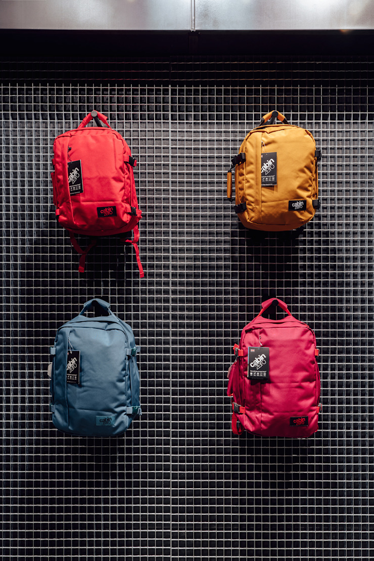 CATBAG concept store of urban backpacks - Displays Studioapart Interior & Product design Barcelona Offices & stores Iron/Steel Grey