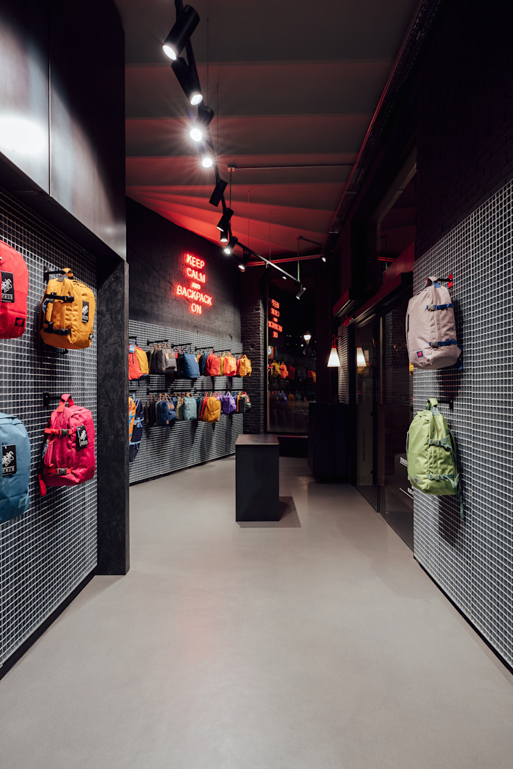 CATBAG concept store of urban backpacks - Neon Studioapart Interior & Product design Barcelona Offices & stores