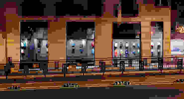 CATBAG concept store of urban backpacks - Facade Studioapart Interior & Product design Barcelona Offices & stores Bricks Grey