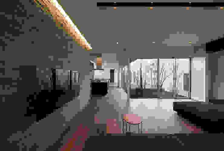 権常寺の家 リビング モダンデザインの リビング の Atelier Square モダン 石