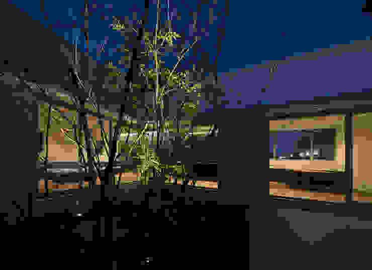権常寺の家 中庭 モダンな庭 の Atelier Square モダン タイル
