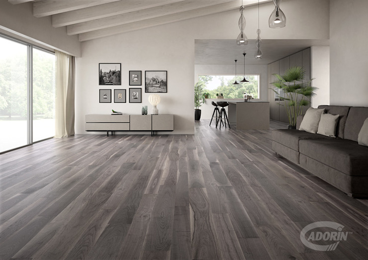 American Walnut Bark Modern living room by Cadorin Group Srl - Italian craftsmanship Wood flooring and Coverings Modern