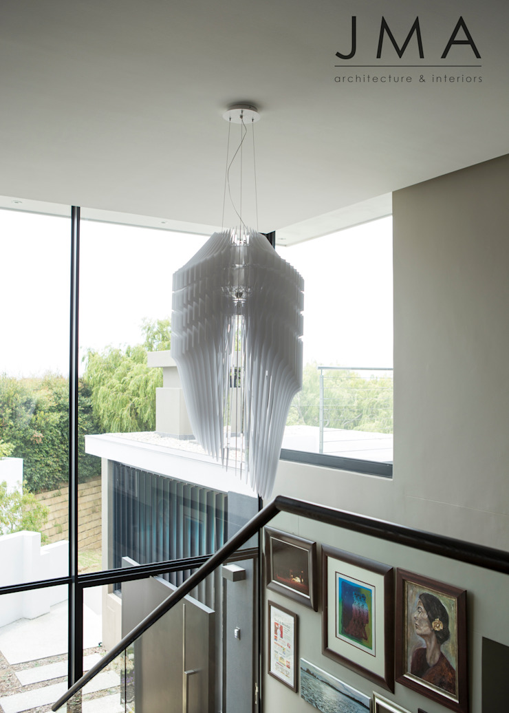 Welgedacht Villa - View from stair by Jenny Mills Architects Modern