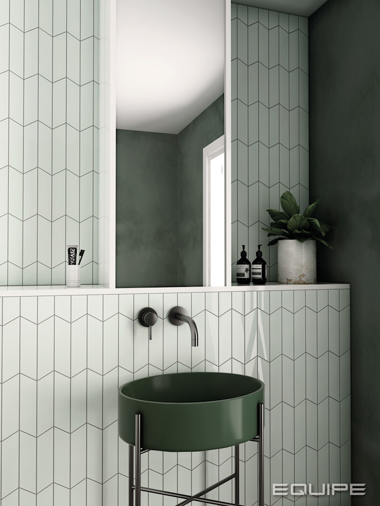 Equipe Ceramicas Modern bathroom Tiles Green