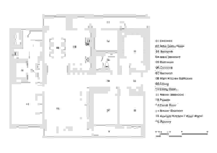 압구정동 구현대 아파트 65평 인테리어 리모델링: studio FOAM Architects의 현대 ,모던