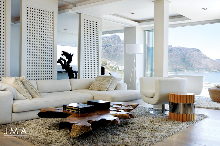 Suspended Clifton Apartment - Living area Modern living room by Jenny Mills Architects Modern