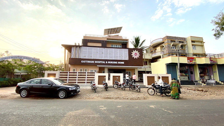Bungalow for Dr. Shashidhar Kattimani at Ghatprabha, Karnataka A B Design Studio Bungalows
