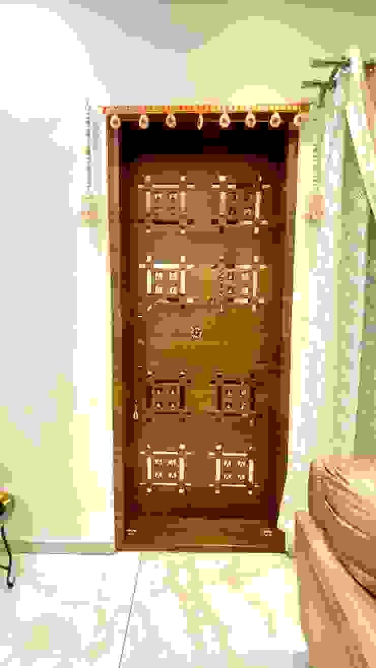 Bungalow for Dr. Shashidhar Kattimani at Ghatprabha, Karnataka A B Design Studio Eclectic style living room