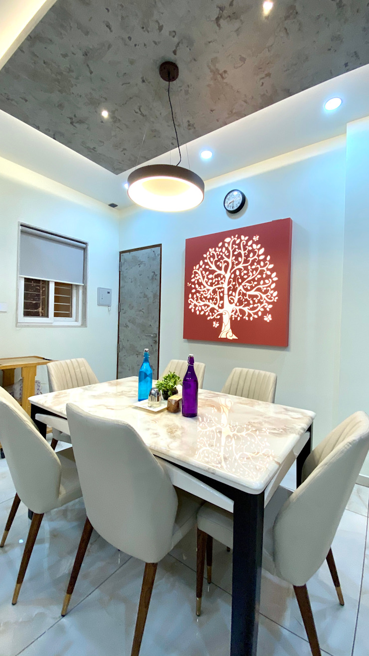 Bungalow for Dr. Shashidhar Kattimani at Ghatprabha, Karnataka A B Design Studio Eclectic style dining room