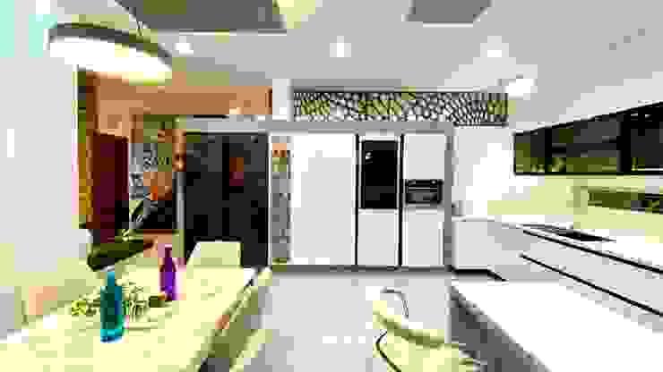 Bungalow for Dr. Shashidhar Kattimani at Ghatprabha, Karnataka A B Design Studio Eclectic style kitchen