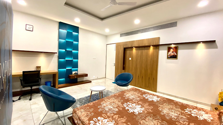 Son's Bedroom A B Design Studio Eclectic style bedroom Blue