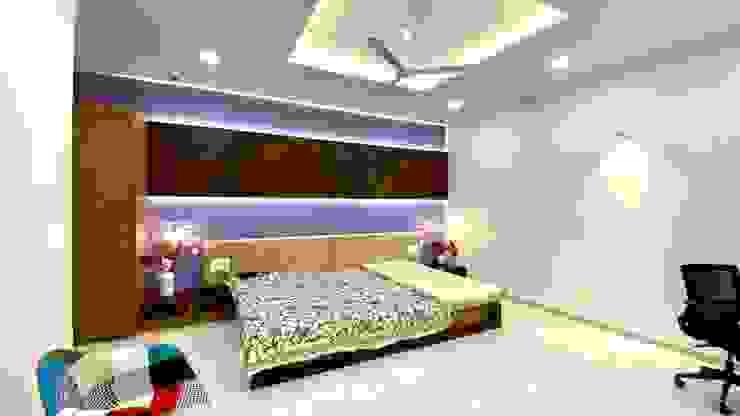 Guest Bedroom A B Design Studio Eclectic style bedroom Purple/Violet