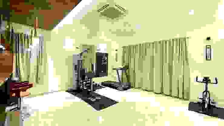 Bungalow for Dr. Shashidhar Kattimani at Ghatprabha, Karnataka A B Design Studio Eclectic style gym