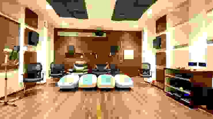 Bungalow for Dr. Shashidhar Kattimani at Ghatprabha, Karnataka A B Design Studio Eclectic style media room