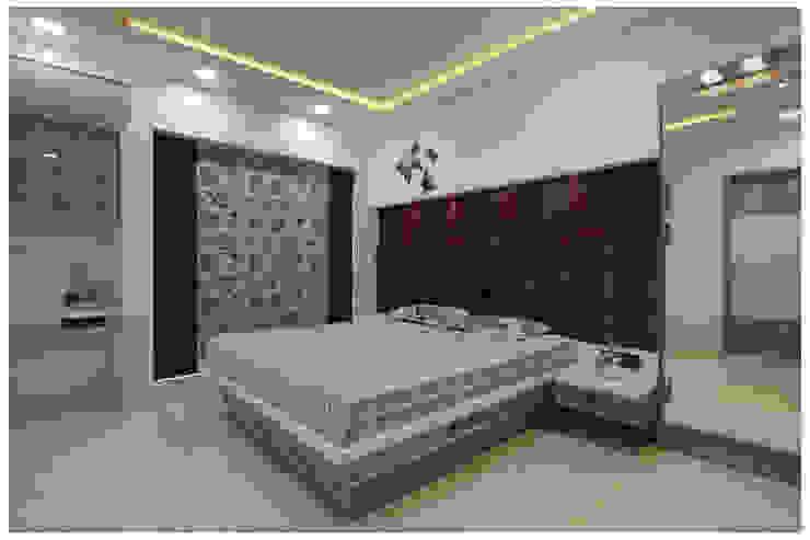 Spacemekk Designers p.LTD Kleine slaapkamer Marmer Paars / Violet