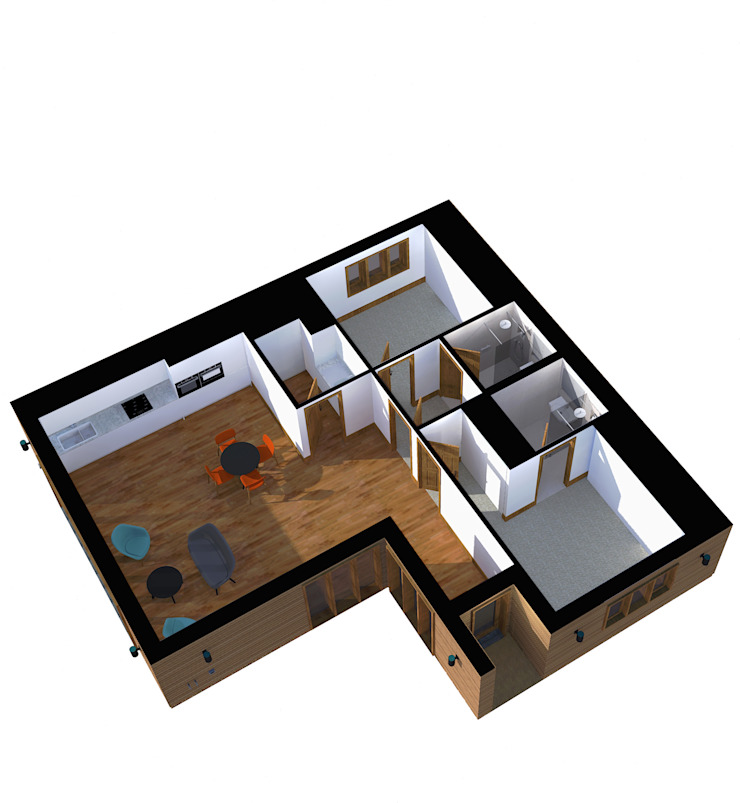 Stand Alone Annexe Ashford Kent STUDIO 9010 Livings de estilo moderno