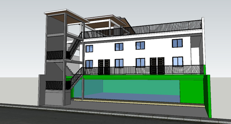 Proposed 3 Storey Commercial Residential with Deck Building by j.g taño builders