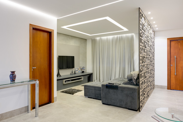 D arquitetura Eclectic style living room