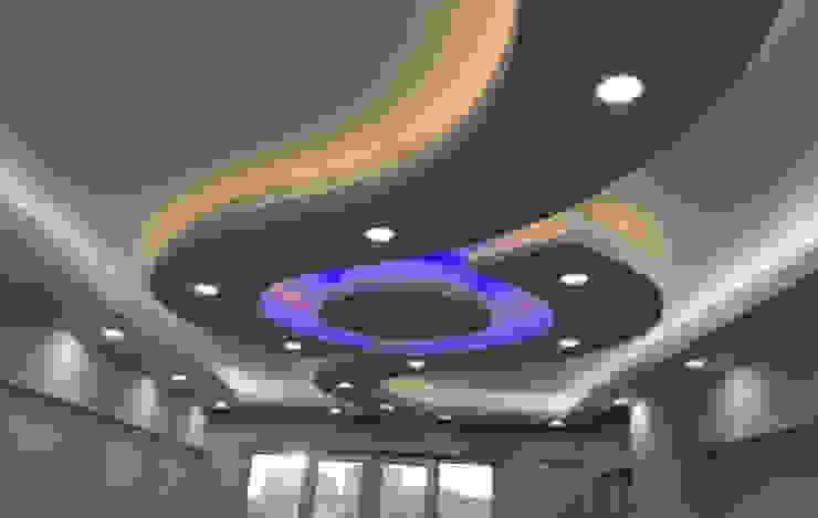 Asma Tavan Uygulama Gökçe Yapı Modern Duvar & Zemin Kireçtaşı Metalik/Gümüş