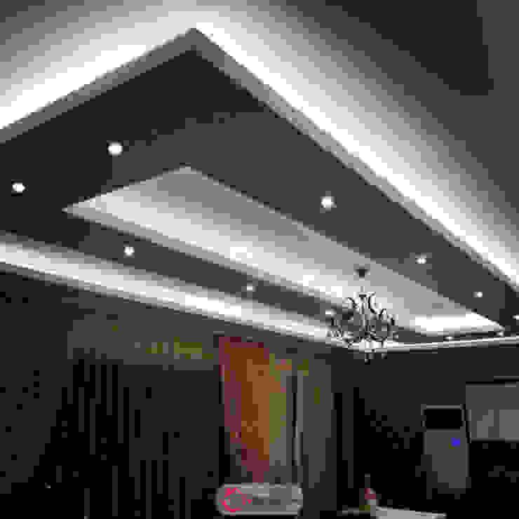 Asma tavan U şeklinde Salon Gökçe Yapı Modern Duvar & Zemin Kireçtaşı Beyaz