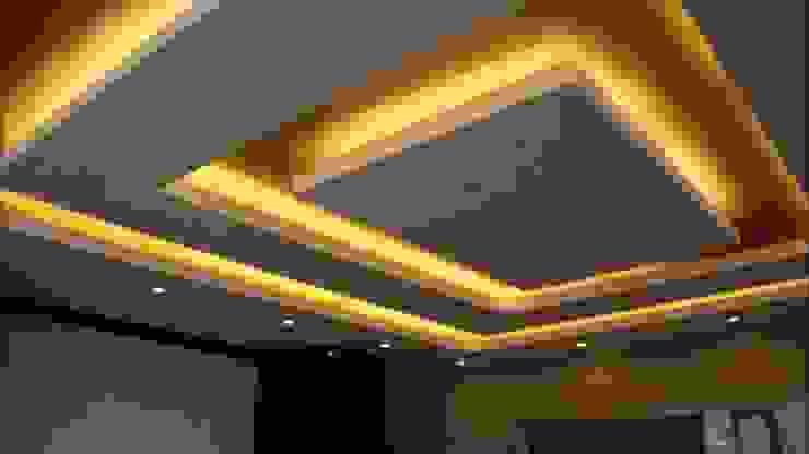 Asma tavan modelleri Gökçe Yapı Modern Duvar & Zemin Kireçtaşı Sarı