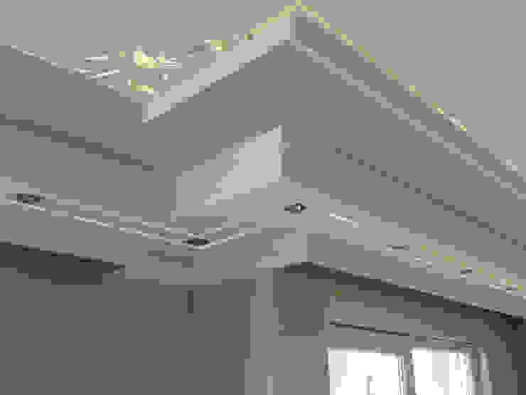 Asma tavan modeli kirişli duvar Gökçe Yapı Modern Duvar & Zemin Kireçtaşı Beyaz