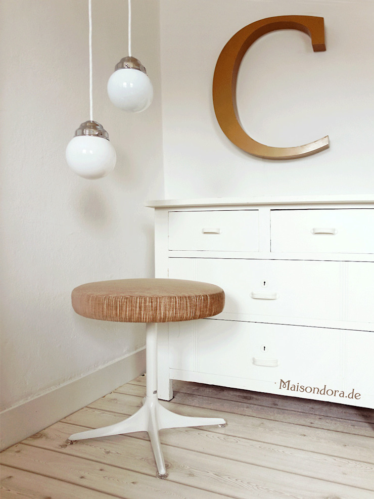 Maisondora Vintage Living DressingSièges Métal Blanc