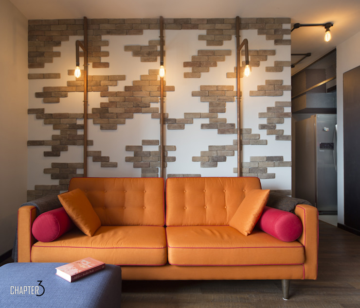 Project 4Room BTO Dawson <q>Urban Industrial</q> Industrial style living room by Chapter 3 Interior Design Industrial
