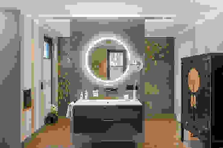 Bagno in stile asiatico di CONSCIOUS DESIGN - INTERIORS Asiatico Piastrelle