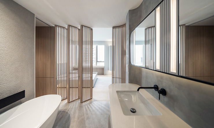 MW's RESIDENCE Minimalist style bathroom by arctitudesign Minimalist