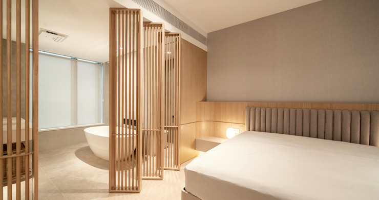 MW's RESIDENCE Minimalist bedroom by arctitudesign Minimalist