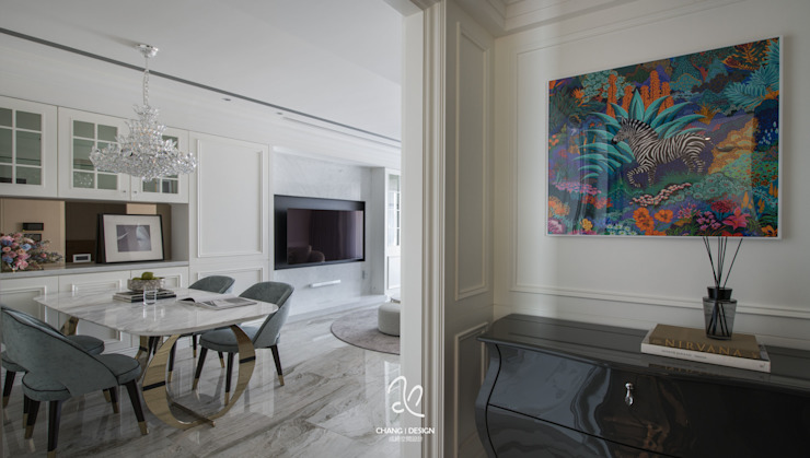 石牌 鄭公館 經典風格的走廊,走廊和樓梯 根據 成綺空間設計 古典風
