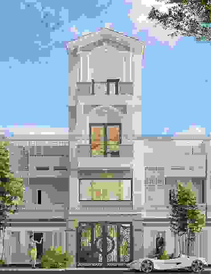 Mẫu thiết kế nhà 3 tầng đẹp mái thái hiện đại bởi Công ty xây dựng nhà đẹp mới